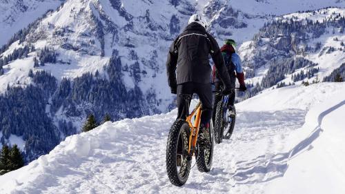 Fatbikes in sneeuw